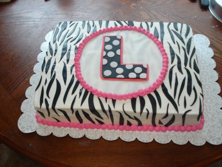 Zebra Print Sheet Cake | Photoset 28,599 of 64,209