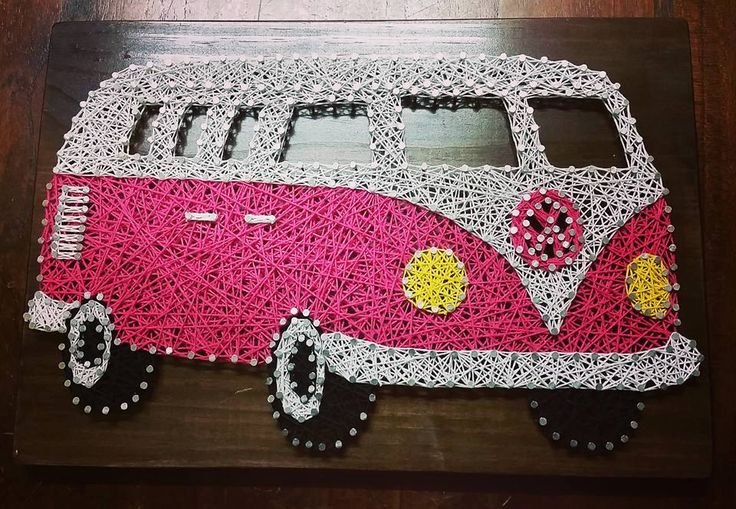 String Art Volkswagen Combi Van by ShazzArtz on Etsy