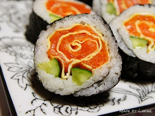 The rose sushi roll