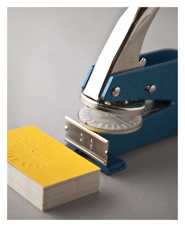 Unique Business Cards: An embossed logo on bright cards to make your business cards pop.