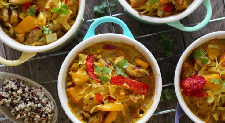 Gratinerede grøntsager på indonesisk