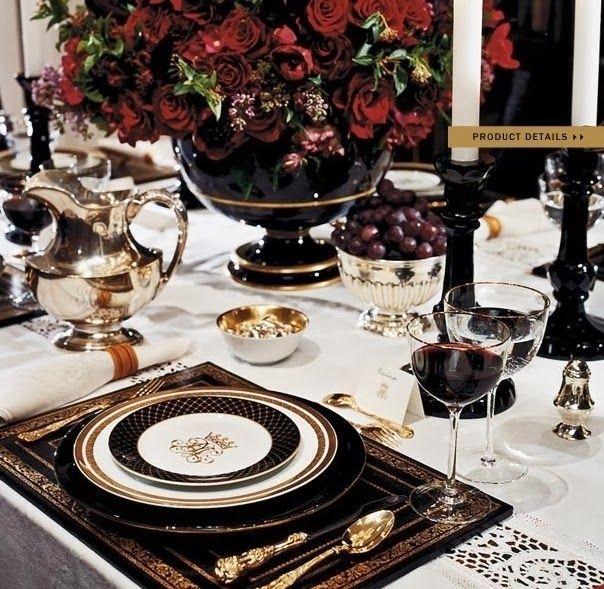 Ralph Lauren Noble Estate Tablescape.  Gorgeous!!