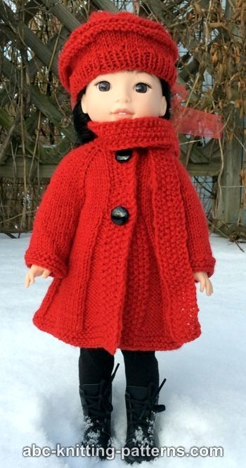 7992f98c71255 Broadway Coat with Scarf Collar and Matching Beret (for 14