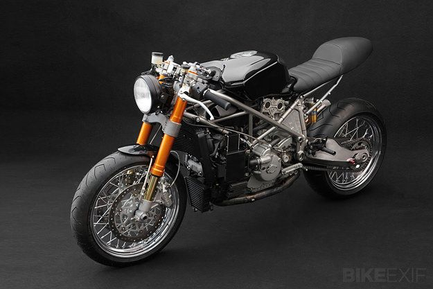 Ducati 999S.  Another one of those conundrums; do you ride it, or put it on a pedestal and display it?  Rolling Artwork!