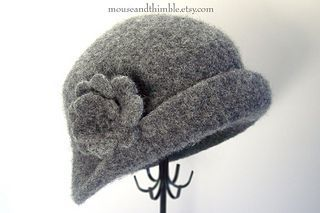 ravelry felted hats | Felted Cloche & Brooch pattern by Carla Malcomb | Hats