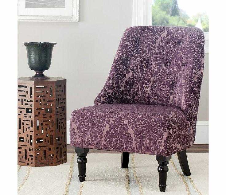 Safavieh Galina Purple Peach Armless Club Chair