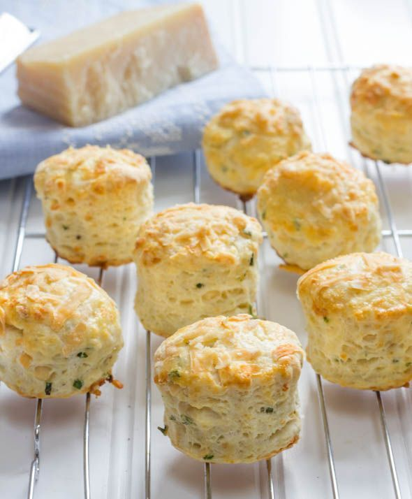 """Mini Parmesan Cheese and Herb Scones ~ via this blog, """"S'tasty""""."""