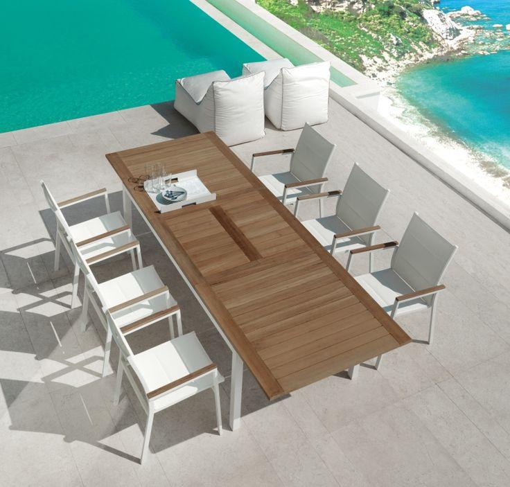 Tavolo allungabile Timber Talenti. Ambientazione vista dall'alto.