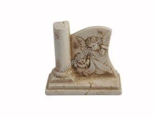 Graziosa raffigurazione Bellissima raffigurazione a rilievo dell'angelo custode,in polvere di marmo di carrara ricomposta in resina...