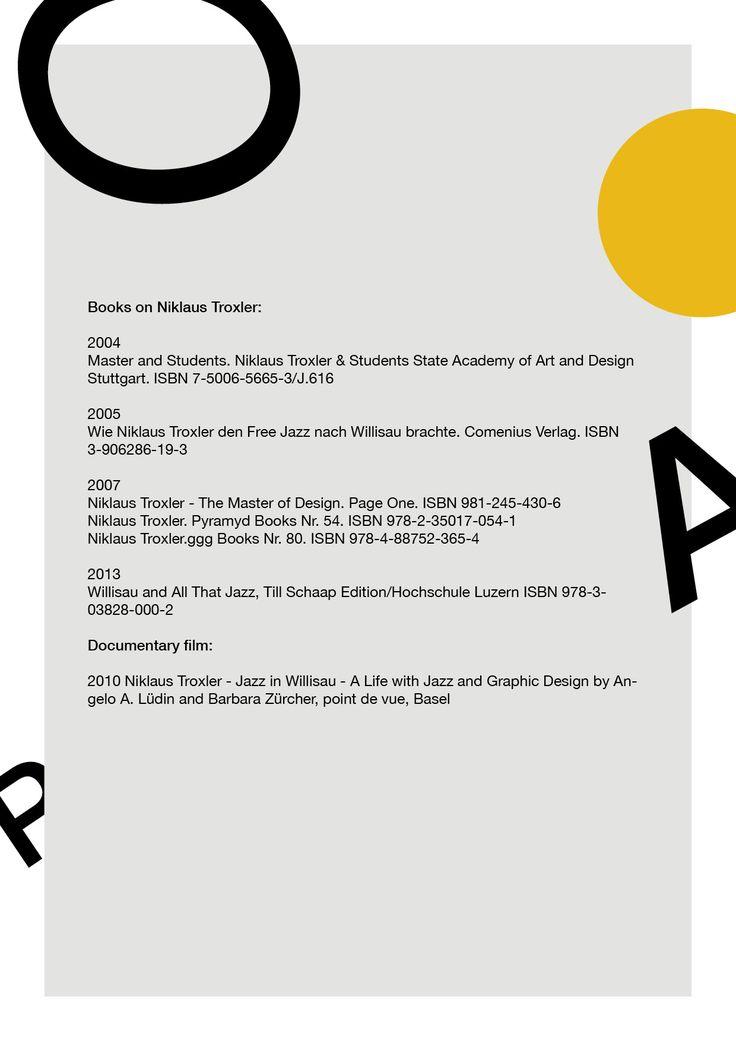 Niklaus Troxler Deel4 - Biografie