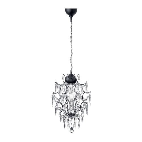 IKEA - ÖRTOFTA, Chandelier, , Projects decorative patterns onto the ceiling and on the wall.The height is easy to adjust by using the S-hook or cutting the chain.