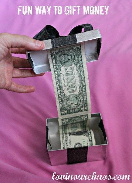 How to give money as a gift! Fun way to wrap money when giving it as a gift!