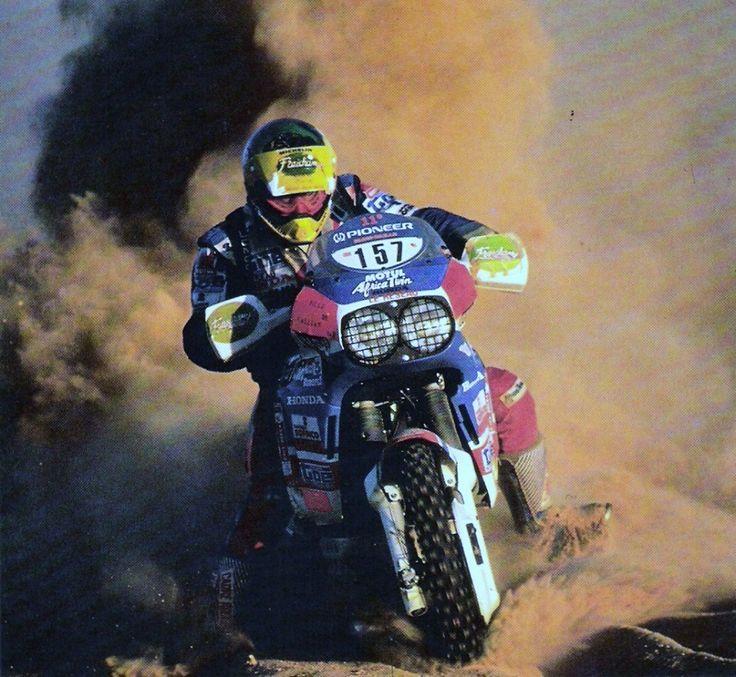 Oliver Collomp, Honda Africa Twin Marathon,  Dakar Rally1989.