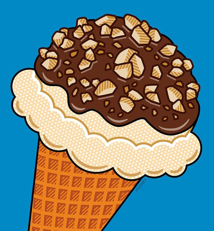 Pop Art Digital Art - Ice Cream On Blue by Ron Magnes