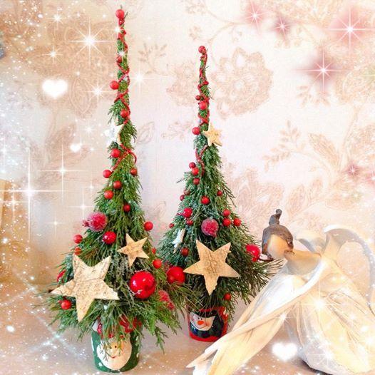 Cute mini pencil Christmas trees