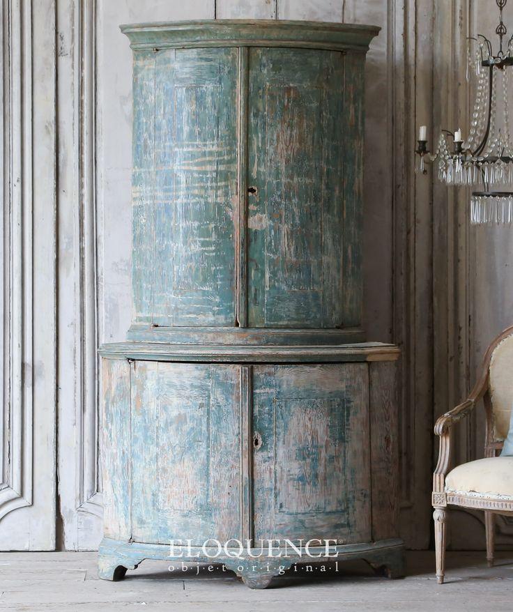 Eloquence Inc- Antique Swedish Corner Cabinet: 1714 Divine Swedish… - 216 Best Gustavian Home Images On Pinterest Swedish Style