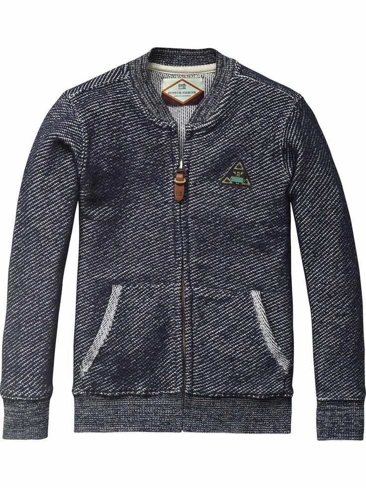 Two Tone College Jacket | Sweat | Boy's Clothing at Scotch & Soda