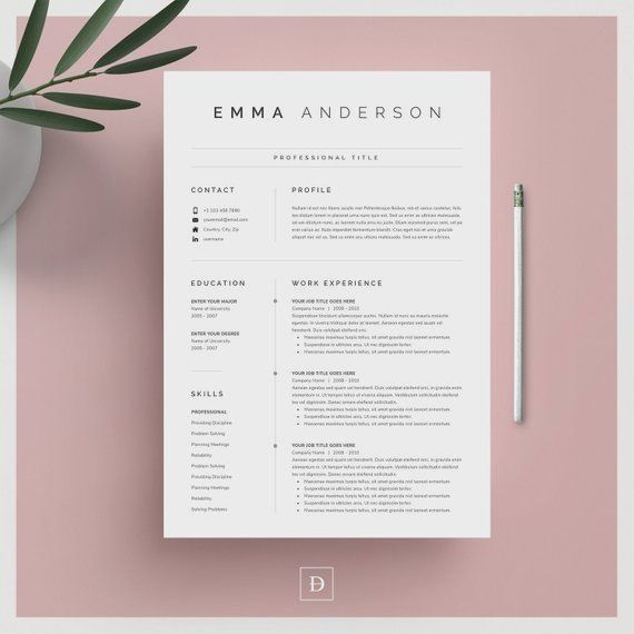clean modern resume template 4 pages mod u00e8le de cv