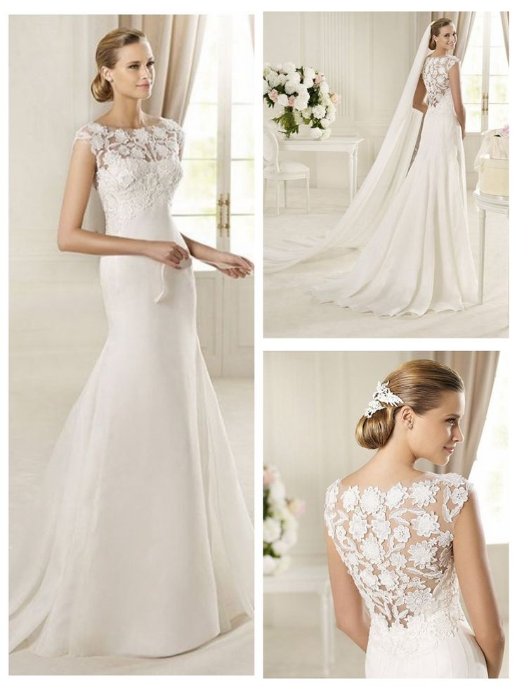 Jewel Neckline Mermaid Style with Exquisite Lace Back Wedding Dresses http://www.ckdress.com/jewel-neckline-mermaid-style-with-exquisite-  lace-back-wedding-dresses-p-503.html  #wedding #dresses #dress #lightindream #lightindreaming #wed #clothing   #gown #weddingdresses #dressesonline #dressonline #bride