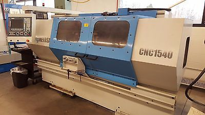 2001 Clausing Metosa 1540 CNC Turning Center Flatbed Lathe Fagor 40 center USED