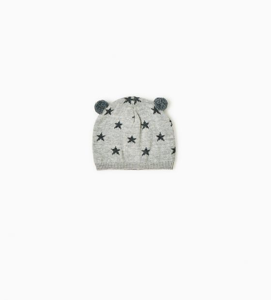 ZARA - SALE - HAT WITH STARS AND LITTLE EARS