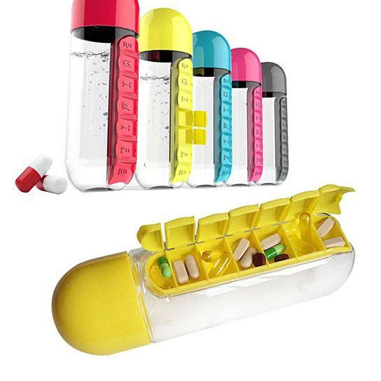 Pillex Water Bottle With Pill Dispenser What A Lifesaver! #Home #NewItems