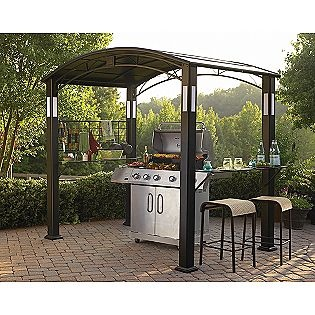 a gazebo for your grill...WITH a bar. Awesome.