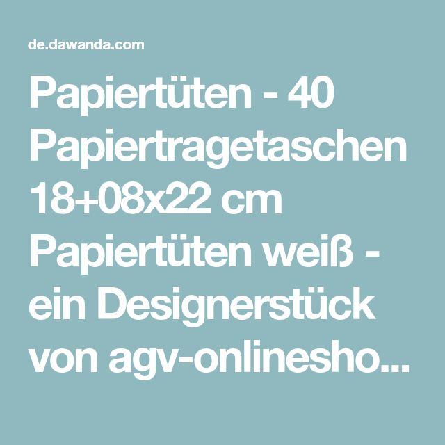Papiertüten - 40 Papiertragetaschen 18+08x22 cm Papiertüten weiß - ein Designerstück von agv-onlineshop bei DaWanda