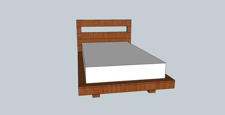 DIY pland for a twin platform bed