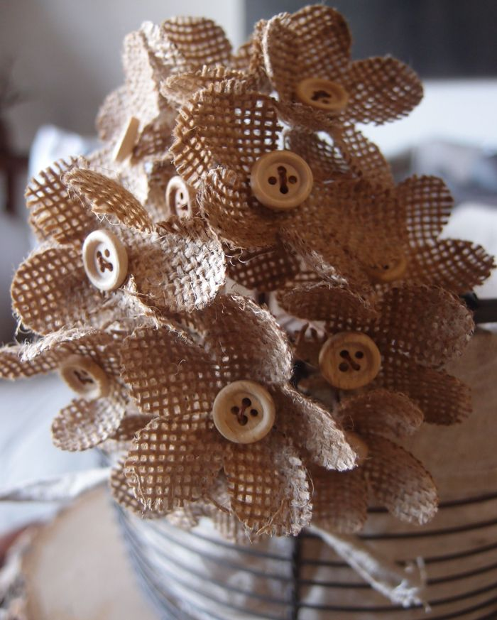 use some burlap flowers