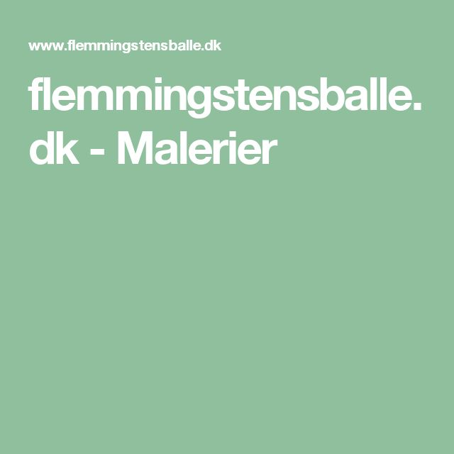 flemmingstensballe.dk - Malerier