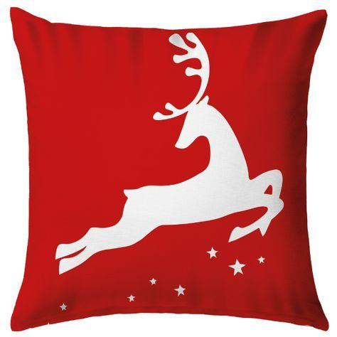 Cojín Rudolph by Tres Mares. Decoración navideña al estilo decohunter. x-mas. navidad. Decohunter. cómo decorar navidad. ideas para navidad. Encuentra dónde comprar este diseño y Producto en Colombia
