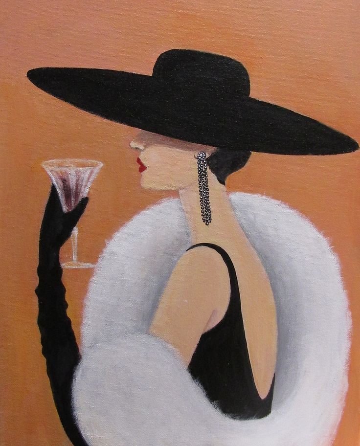 Lady in a Picture Hat by Dian Bernardo