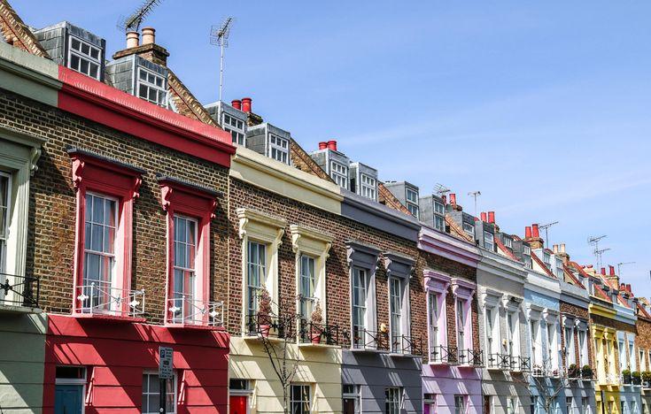 Lego houses. London, England.