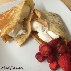 Pandekager/Pancakes #lowcarb #glutenfree #sugarfree #strawberry #icecream
