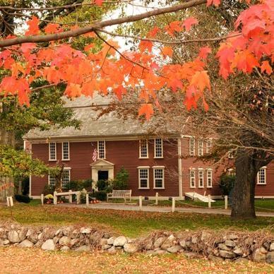 The Wayside Inn, Sudbury, MA (my hometown) - lovely tavern built in 1686 - venerable, antique, primitive.
