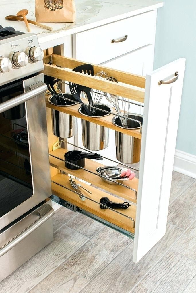 skinny kitchen cabinet ikea counters roll out pantry next to fridge best pull spice rack ideas on cabinets diy