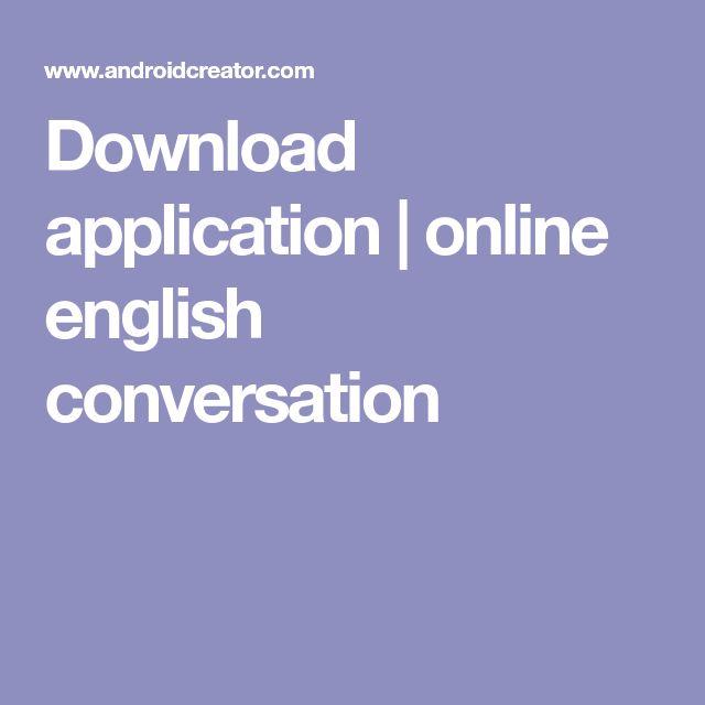 Download application   online english conversation
