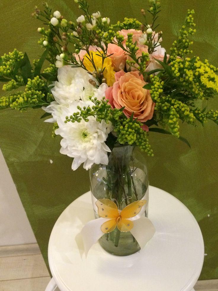 #millefleur Baptism flower arrangements