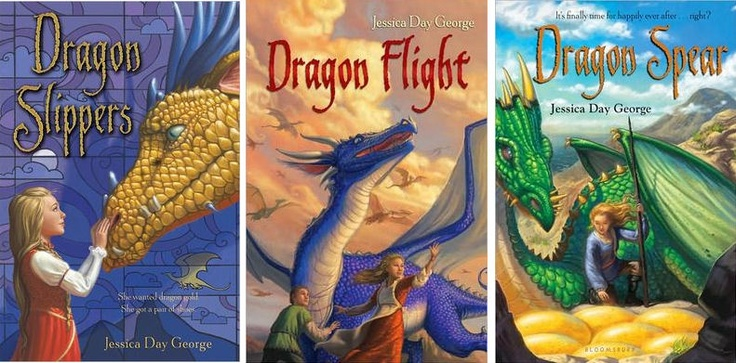Dragon Slippers, Dragon Flight, Dragon Spear by Jessica Day George