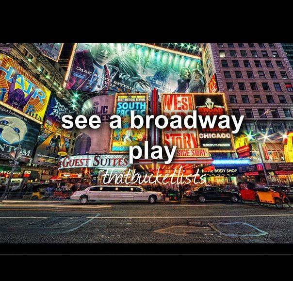 Check! Bucket list! Broadway play :-)
