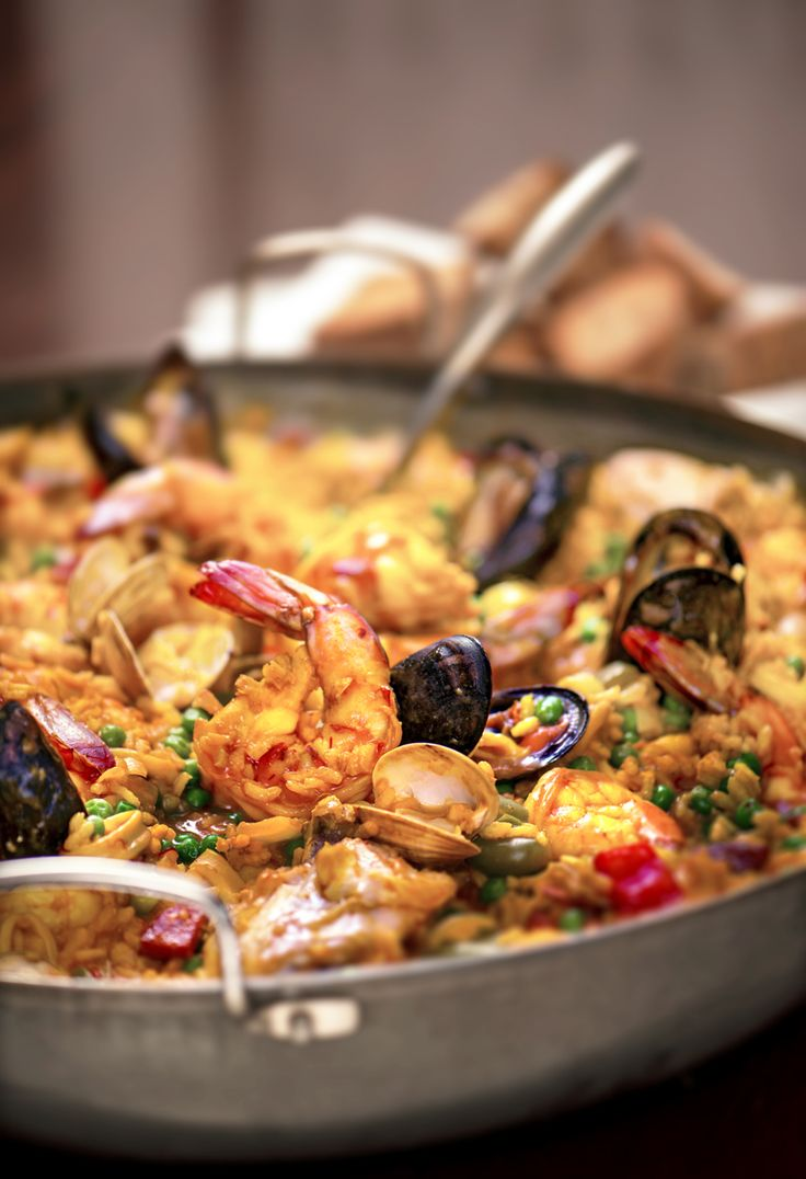 Disney Cruise Line Summer Recipe: Seafood Paella with Saffron Aioli  Red Pepper Rouille