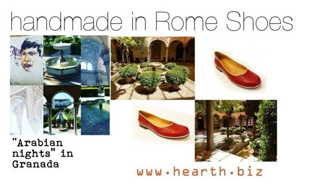 """handmade in Rome Shoes: the Arabian nights ballerinas"" by hearthfashion on Polyvore featuring moda, arabiannights, handmadeinrome, hearthshoes e hearthfashion"