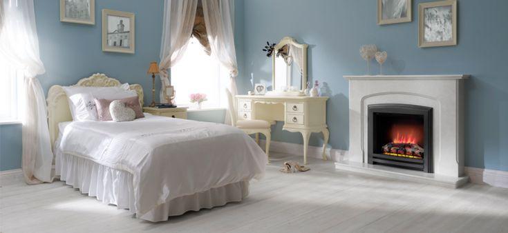 Caminetto elettrico effetto fiamma danzante per l'installazione in camera da letto