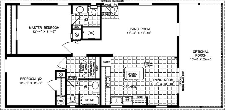 Manufactured Home Floor Plans | 800 sq ft - 999 sq ft