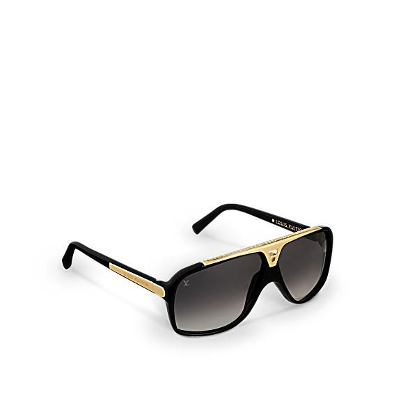 Back and gold LOUIS VUITTON Evidence sunglasses