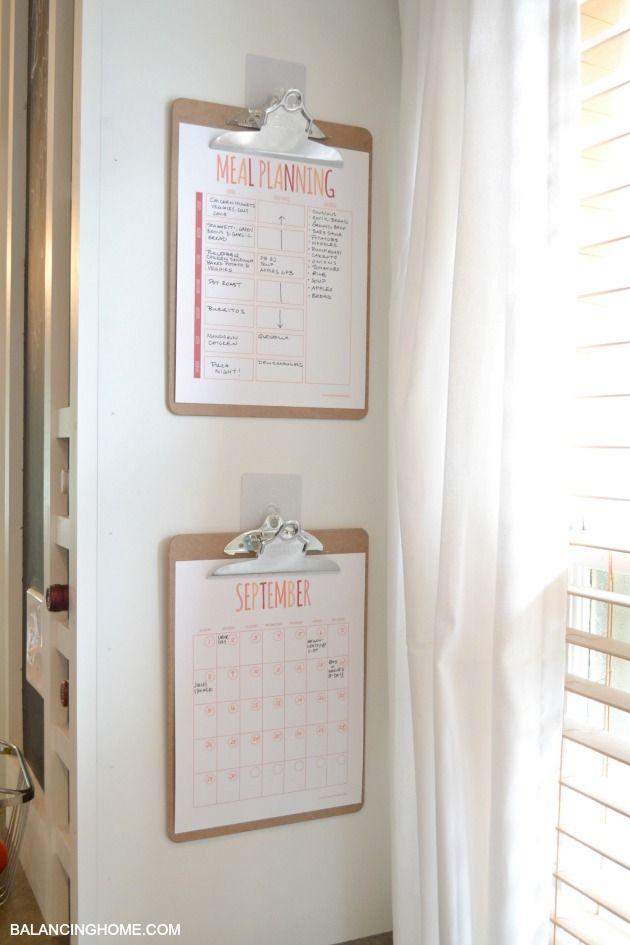Meal Plan and Calendar Free Printable's