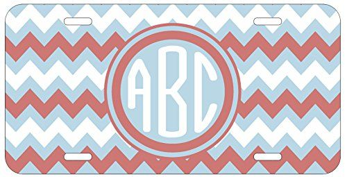 Personalized Monogrammed Chevron Pink Light Blue Car License Plate Auto Tag Top Craft Case http://www.amazon.com/dp/B00LOWP5TO/ref=cm_sw_r_pi_dp_5optub18MZHNT