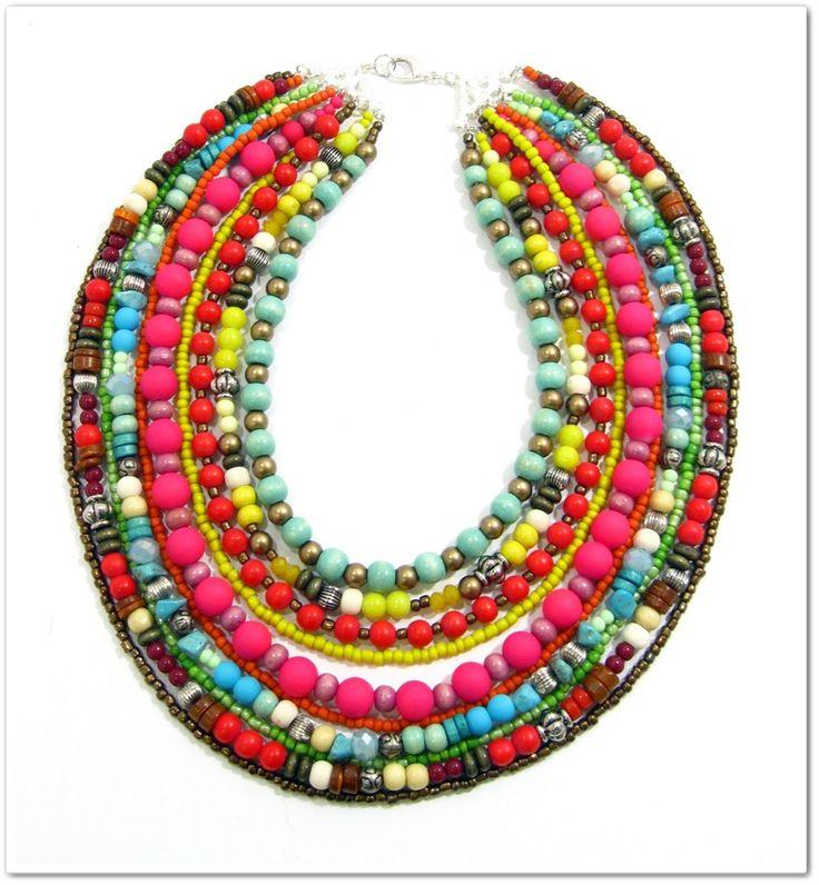 Boho beaded collar. www.marzipan.co.za
