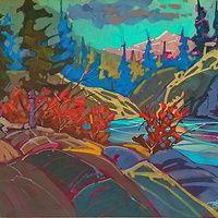 Albert Edward Lake View  Acrylic 18x24